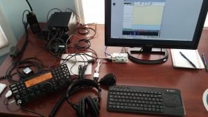 Pete  AG7C's Raspberry Pi 2 setup.