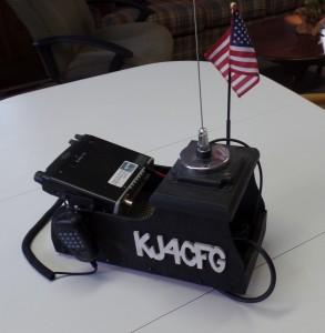 Carl KJ4CFG's mobile, 2 meter ham rig
